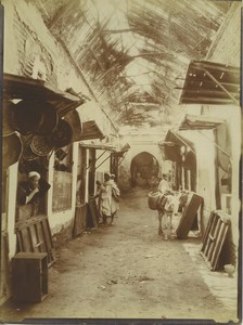 Morocco Marrakech Medina? Souk Market Narrow Street Old Photo Felix 1915
