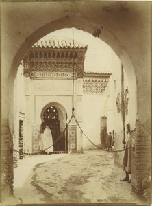 Morocco Marrakech Moroccan House Archway Old Photo Felix 1915