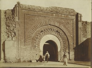 Morocco Marrakech Bab Agnaou Gate Old Photo Felix 1915