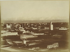 Morocco Marrakech Medina Terraces Rooftops General View Old Photo Felix 1915