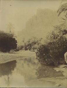 Algeria oued El Kantara Wadi Old Photo Emile Frechon 1900