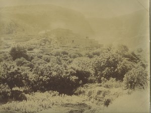 Algeria Gorges of Maâfa Village of Meradca Old Photo Emile Frechon 1900