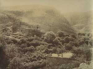Algeria Gorges of Maâfa Village & Gardens Old Photo Emile Frechon 1900