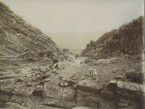 Algeria gorges of Tilatou oued Skhoun Wadi Old Photo Emile Frechon 1900