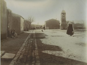 Algeria Aïn Touta Mac Mahon Main Street Well Clock Old Photo Emile Frechon 1900
