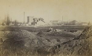 France Strasbourg Guerre tranchées prussiennes vers Schiltighem Ancienne Photo Cabinet Richard 1870