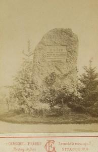 Strasbourg Wartime E Kuss Mayor Stele Cemetery Old Cabinet Photo Gerschel 1871