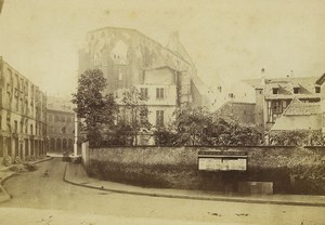 Strasbourg Wartime Eglise Temple Neuf & Library Ruins Old Cabinet Photo 1870