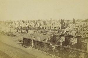 France Strasbourg Guerre Faubourg de Pierre & Poudriere Ancienne Photo Carte Cabinet 1870