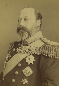 United Kingdom Prince of Wales Admiral of the Fleet Cabinet Photo Russell 1880