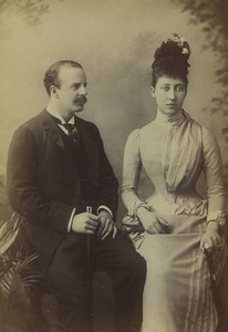 United Kingdom Duke & Duchess of Fife Old Photo cabinet card Downey 1880