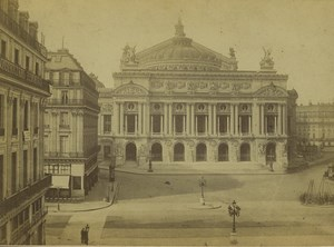 France Paris Opera Palais Garnier Old Photo Cabinet Card Ladrey 1870