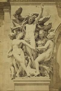 France Paris Opera Garnier La Danse by Carpeaux Old Photo Cabinet Ladrey 1870