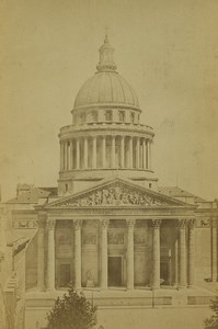 France Paris Pantheon Old Photo Cabinet Card Ladrey 1870