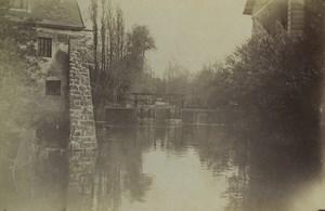 France Essonne Brunoy Rochopt? Watermill Moulin Old Photo 1892