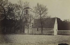France Essonne church near Brunoy Eglise Old Photo 1894
