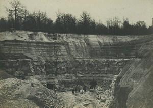 France Carriere de Trelaze? Quarry Old Photo 1891