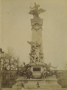 France Paris Monument de Gambetta Ancienne Photo 1894