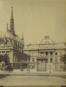 France Paris Sainte Chapelle & Palais de Justice Ancienne Photo 1890