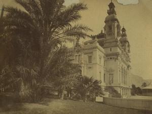 Monaco Monte Carlo Theatre et Jardins Ancienne Photo 1890