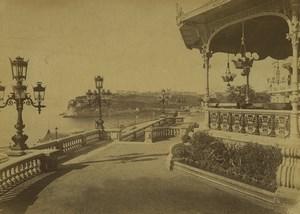 Monaco Monte Carlo Kiosk & Terraces Old Photo 1890
