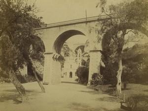 Monaco Sainte Devote Chapel Bridge Garden Old Photo 1890