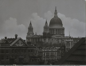 United Kingdom London St Paul Cathedral Old Stengel Photo 1897