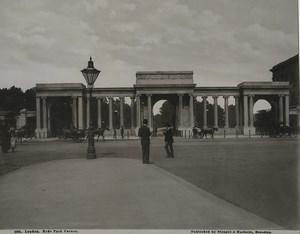 United Kingdom London Hyde Park Corner Old Stengel Photo 1897