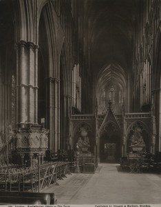 United Kingdom London Westminster abbey the Nave Old Stengel Photo 1897