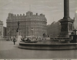 United Kingdom London the Grand Hotel Fountain Old Stengel Photo 1897