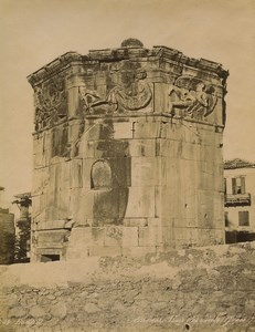 Greece Athens Tower of the Winds Architecture Old Photo Bonfils 1880