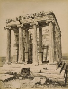 Greece Athens Victory Temple of Athena Nike Old Photo Bonfils 1880