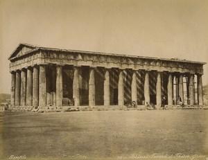 Greece Athens Temple of Hephaestus Theseion Old Photo Bonfils 1880