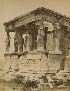 Greece Athens Porch of the Caryatids Erechtheion Old Photo Bonfils 1880