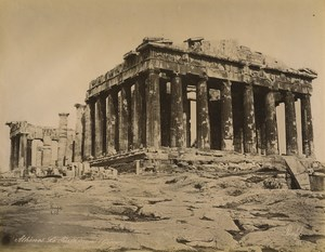 Greece Athens the Parthenon Greek Architecture Old Photo Bonfils 1880