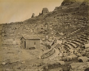 Greece Athens Bacchus Theater Old Photo Bonfils 1880