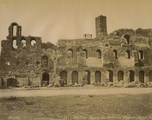 Greece Athens Odeon of Herodes Atticus Old Photo Bonfils 1880