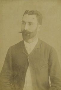 Nouvelle Calédonie Nouméa Portrait Masculin Ancienne Photo Carte Cabinet Devambez 1890