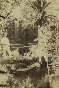 New Caledonia Noumea Forest Outdoor Portrait Old Photo 1890