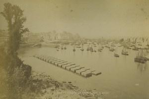 France Bretagne Douarnenez Baie Bateaux de peche Ancienne Photo Neurdein 1890