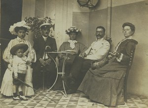 Belgique Blankenberghe Groupe identifie a l'Hotel Nys Ancienne Photo 1904