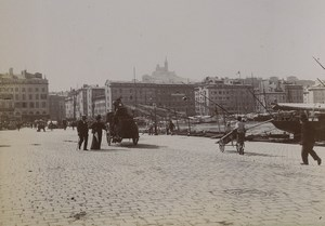 France Marseille quays of the Old Port Notre Dame de la Garde Old Photo 1890