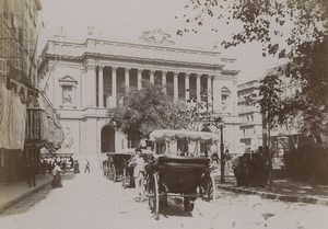 France Marseille la Bourse Caleche Ancienne Photo 1890