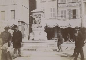 France Marseille Fountain Gelu Old Photo 1890