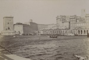 France Marseille Fort St Jean Old Photo 1890