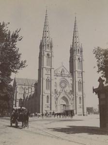 France Nîmes Eglise St Baudile church Old Photo 1890