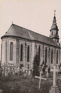 Germany Trier Treves Paulinskirche Old Photo Cabinet card 1890