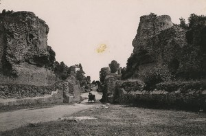 Germany Trier Treves Amphitheatre Ruins Old Photo Cabinet card 1890