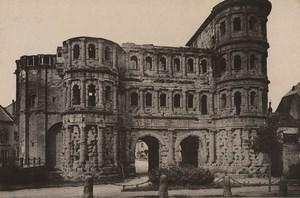Germany Trier Treves Porta Nigra City Gate Old Photo Cabinet card 1890
