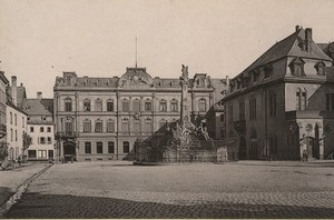 Germany Trier Treves Great Place Kornmarkt Old Photo Cabinet card 1890